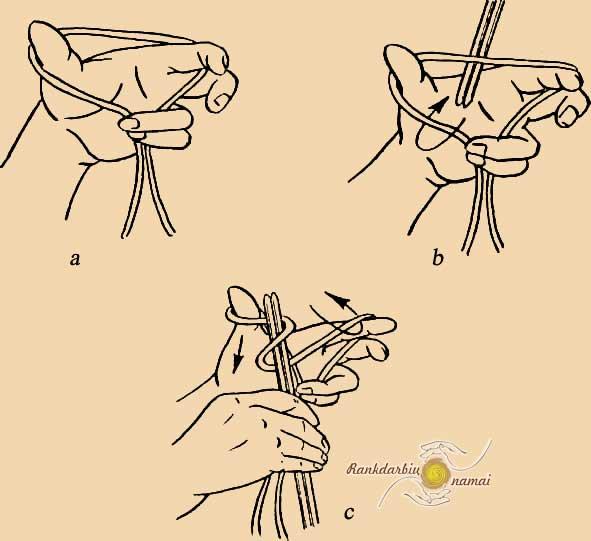 Вязание как накидывать петли 56